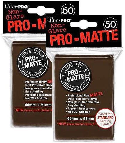 100ct Pro-Matte Brown Standard Deck Protectors