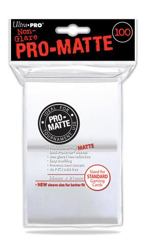 100ct Pro-Matte White Standard Deck Protectors