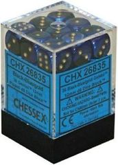 36 die Gemini Black-Blue w/Gold Dice Block - CHX26835