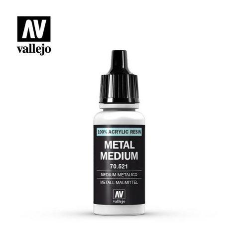 VAL70521 Vallejo Auxillaries Metal Medium 17ml (191)