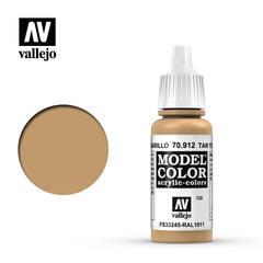 VAL70912 Vallejo Model Color Tan Yellow 17ml (122)