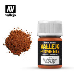 Vallejo Pigments - Dark Red Ochre - VAL73107 - 17ml