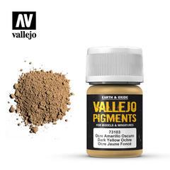 Vallejo Pigments - Dark Yellow Ochre - VAL73103 - 17ml