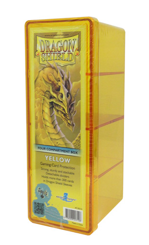 Dragon Shield Four-Compartment Storage Box - Yellow