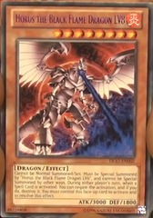 Horus the Black Flame Dragon LV8 - Blue - DL17-EN002 - Rare - Unlimited Edition
