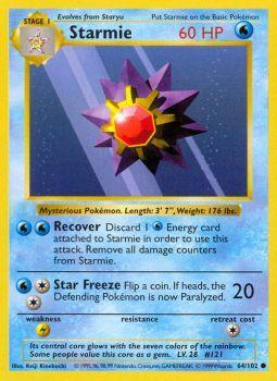 Starmie - 64/102 - Common - Shadowless Edition