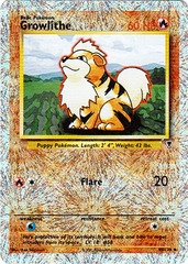 Growlithe - 45/110 - Uncommon - Reverse Holo on Channel Fireball
