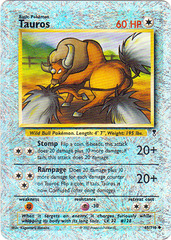 Tauros - 65/110 - Uncommon - Reverse Holo on Channel Fireball