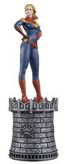 MARVEL CHESS FIG COLL MAG #14 CAPTAIN MARVEL WHITE QUEEN (C: