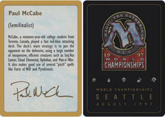 Biography - Paul McCabe - 1997