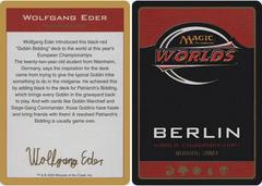 Biography - Wolfgang Eder - 2003