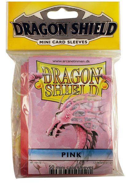 Dragon Shield Mini Card Sleeves (50 ct) - Pink
