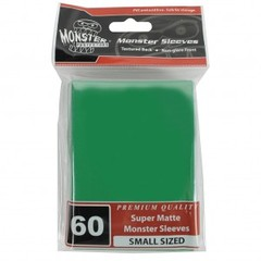 Monster Matte Small Sleeves (60ct) - Green
