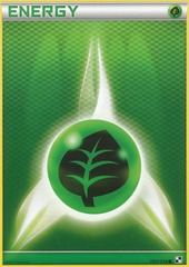 Grass Energy - 105/114 - Promotional - Crosshatch Holo Pokemon League Trio Season 2011