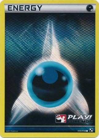 Darkness Energy - 111 - Promotional - Crosshatch Holo Pokemon League Legend Season 2012