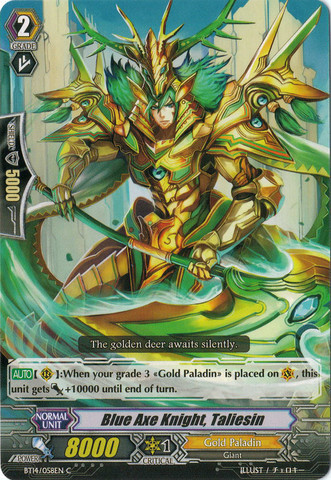 Blue Axe Knight, Taliesin - BT14/058 - C