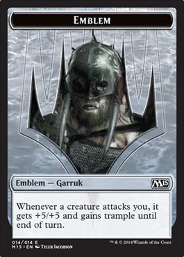 - Magic 2015 by Magic: the Gathering 013//014 Emblem Ajani Magic: the Gathering