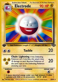Electrode - 18/64 - Rare - 1999-2000 Wizards Base Set Copyright Edition