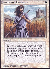 English Iconic Masters MTG Magic 1x Swords to Plowshares Foil NM-Mint