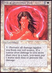 Circle of Protection: Red on Channel Fireball