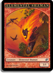 Elemental Shaman Token on Channel Fireball