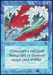 Blue Elemental Blast (Not Tournament Legal)