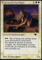 Argivian Archaeologist on Channel Fireball
