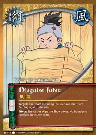 Disguise Jutsu - J-018 - Common - 1st Edition