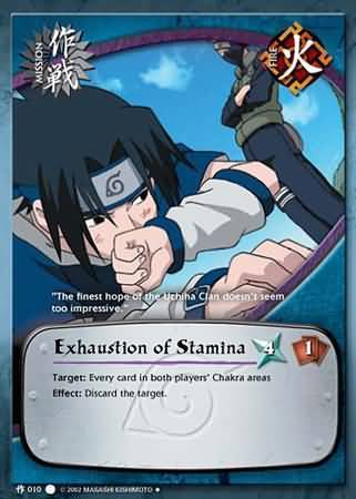 Exhaustion of Stamina - M-010 - Uncommon - 1st Edition