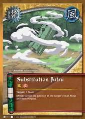 Substitution Jutsu - J-017 - Common - 1st Edition