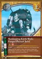Summoning Earth Style: Fanged Pursuit Jutsu - J-041 - Common - 1st Edition