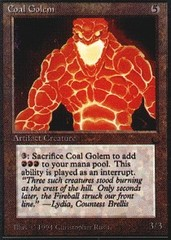 Coal Golem on Channel Fireball