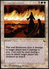 Fire and Brimstone on Channel Fireball