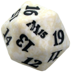 Magic Spindown Die - Magic 2015 - White