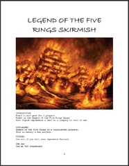 Legend of the Five Rings Skirmish