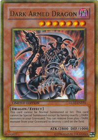Dark Armed Dragon - GLD2-EN031 - Gold Rare - Limited Edition