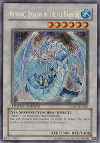 Brionac, Dragon of the Ice Barrier - HA01-EN022 - Secret Rare - Limited