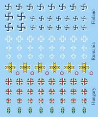 Axis Decals, Hungarian, Finn, Romanian
