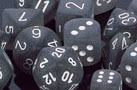 Frosted Smoke / White 7 Dice Set - CHXLE431