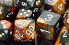 Gemini Black-Copper / White 7 Dice Set - CHX26427