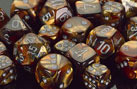 Lustrous Gold / Silver 7 Dice Set - CHX27493