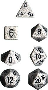 Speckled Artic Camo 7 Dice Set - CHX25311