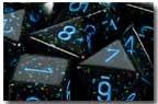 Speckled Blue Stars Dice (Chessex) - CHX25338