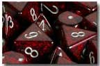 Speckled 7 Dice set (CHX25344) - Silver Volcano