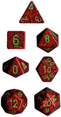 Speckled 7 Dice set (CHX25304) - Strawberry