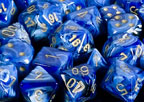 Vortex Blue / Gold Polyhedral 7 Dice Set - CHX27436