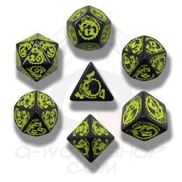 Black & Yellow Dragon Dice set