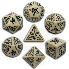 Call of Cthulhu 7-Dice set - Beige & Black