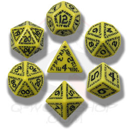 Black & Yellow Nuke 7 Dice set