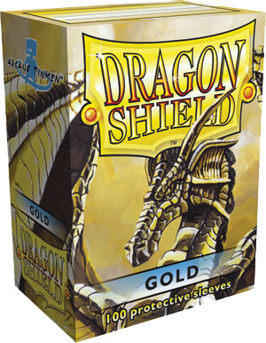 Dragon Shield Classic Standard-Size Sleeves - Gold - 100ct